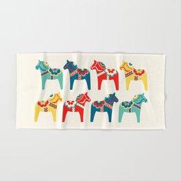 Swedish Horses Hand & Bath Towel