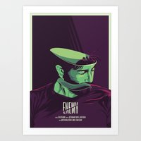 movie poster Art Prints featuring Enemy - Alternative movie poster by FourteenLab