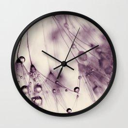 dandelion aubergine Wall Clock