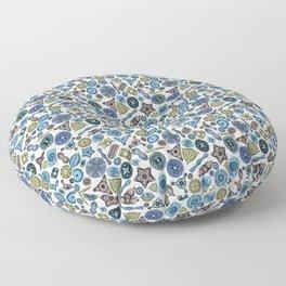 Ernst Haeckel Diatom Toss Lake Hues Floor Pillow