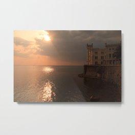 Miramare sunset Metal Print