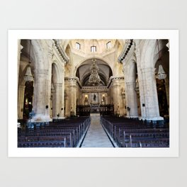 A Sacred Place in the Worn City Art Print