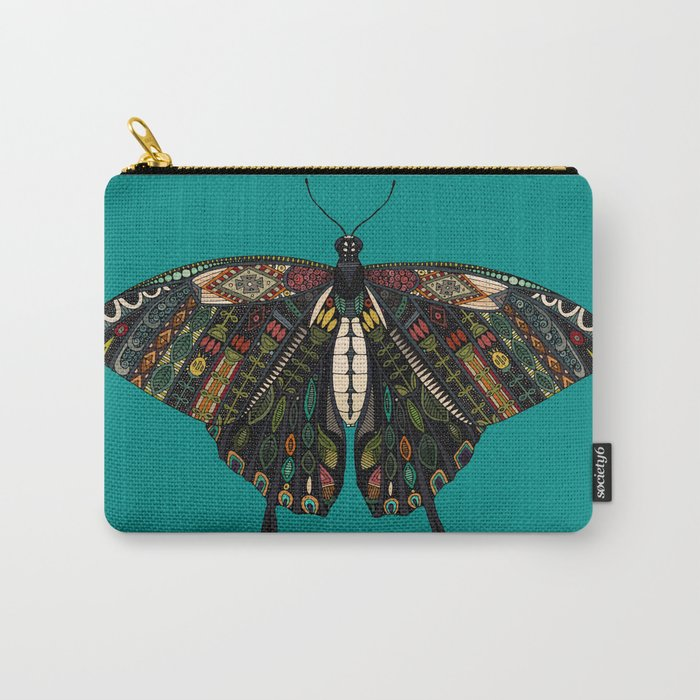 swallowtail butterfly teal Carry-All Pouch