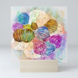 Ocean Sea Shells & Sand Dollars-Barbara Chichester Mini Art Print
