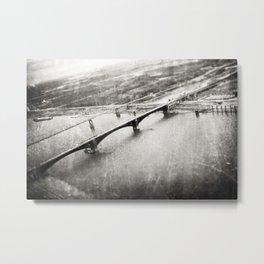 The Eads Bridge - aerial view Metal Print