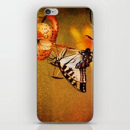 Swallowtail Butterfly and Tiger Lily iPhone Skin