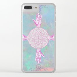 Opal Palms Clear iPhone Case