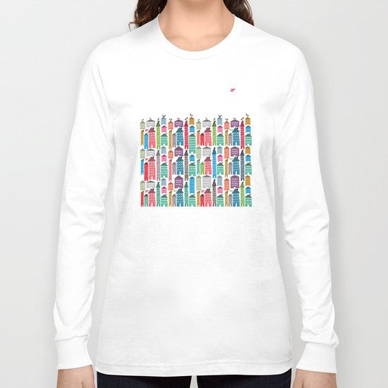 Houses and Birds Long Sleeve T-shirt