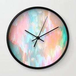 Candy Rainbow Glitch Fall #abstractart Wall Clock
