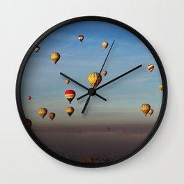 Hot Air Balloons in Cappadocia Turkey Wall Clock