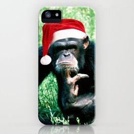 Bah Humbug Chimp iPhone Case