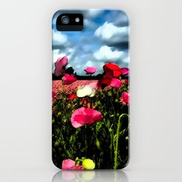 Poppies and Clouds iPhone Case