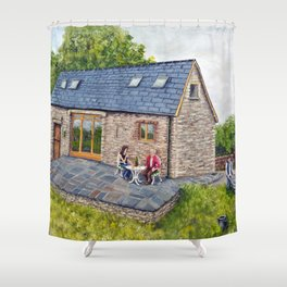Ferns Barn, Herefordshire Shower Curtain
