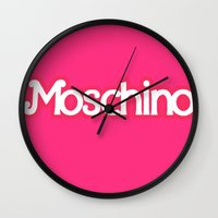 moschino Wall Clocks featuring Moschino Barbie by RickyRicardo787