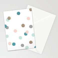 Confetti Dots Stationery Cards