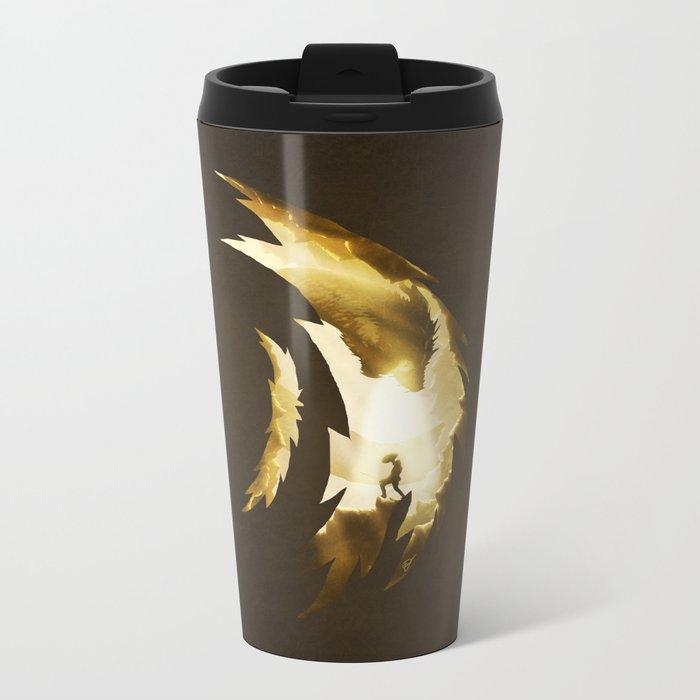 Hunter versus Prey Metal Travel Mug