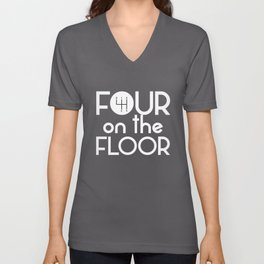 Four on the Floor Gear Shift Standard Manuals Unisex V-Neck