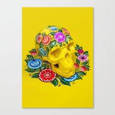 Gorodec Skull Canvas Print