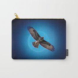 Bird of prey in the moonlight Carry-All Pouch