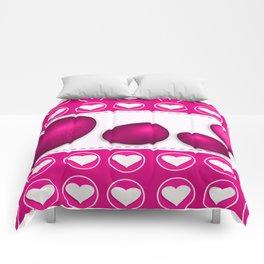 Love celebration easter hearts Comforters