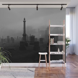 Cemetery (Black and White) Wall Mural