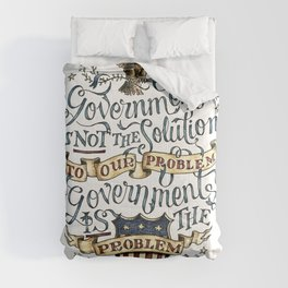 small government, larger freedom Comforters