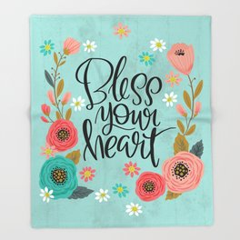 Pretty Not-So-Swe*ry: Bless Your Heart Throw Blanket