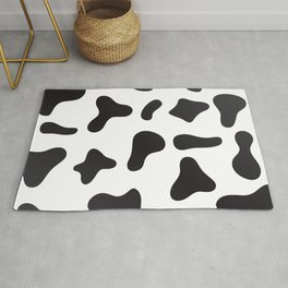 Cow Skin Texture Pattern Rug