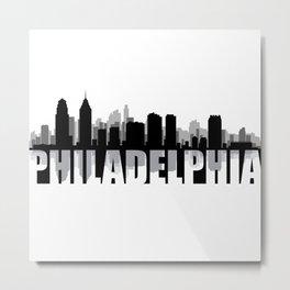 Philadelphia Silhouette Skyline Metal Print