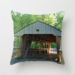 The Covered Bridge at Wildwood Throw Pillow