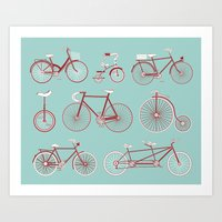 yowamushi pedal Art Prints featuring Pedal to the Mettle by Keely Bowden