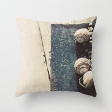 Snail family Throw Pillow