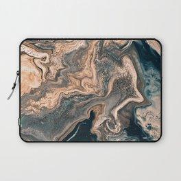 M A R B L E - copper & blue Laptop Sleeve