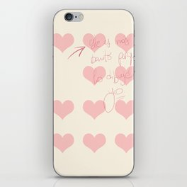 The Prettiest Heart (without Heart) iPhone Skin