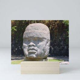 Olmeca head from Veracruz, Mexico Mini Art Print