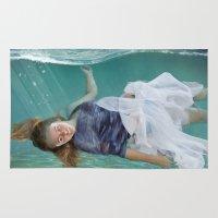 mermaid Area & Throw Rugs featuring Mermaid  by Mary Kilbreath