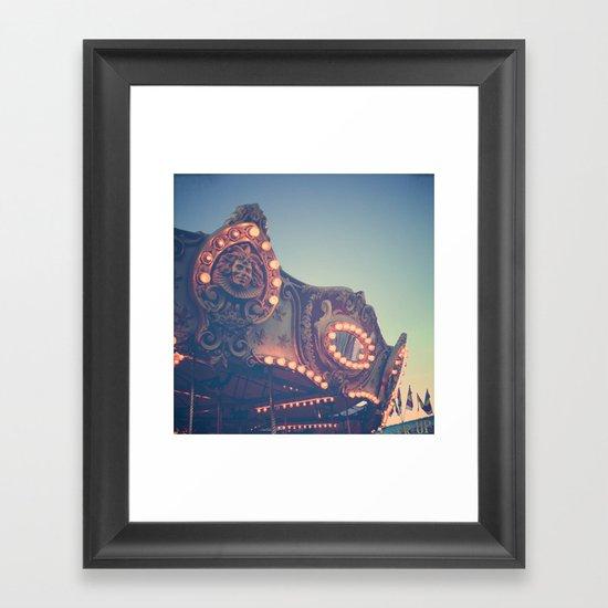 Twilight Carnival Ride Framed Art Print