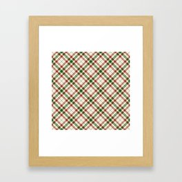 Holiday Plaid Framed Art Print