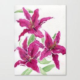 Sumatra Lilies Canvas Print