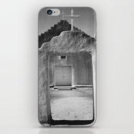 Ansel Adams - Taos Pueblo Church iPhone Skin