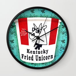 Kentucky Fried Unicorn Wall Clock