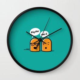 Hipster Nerd Wall Clock