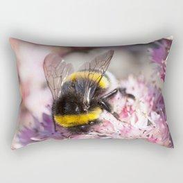 Bumblebee On Stonecrop – Hummel auf Fetthenne Rectangular Pillow