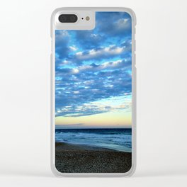 Evening clouds Clear iPhone Case