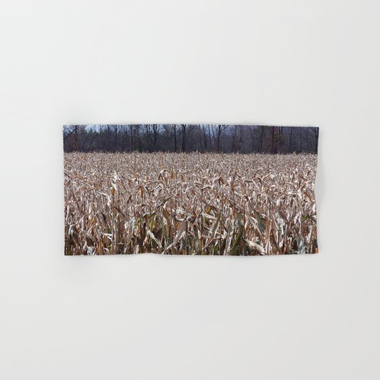 Field of Corn left Behind Hand & Bath Towel