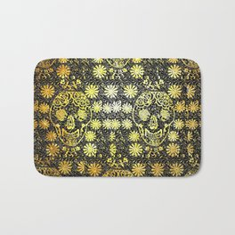 Gold Tiled Sugar Skulls Bath Mat