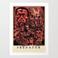 predator Art Prints featuring Predator by Daniel Hatcher