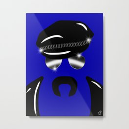 Gay Clone on Blue Metal Print