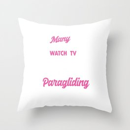 Many Grandma's Paragliding Paragliders Skydiving Parachuting Extreme Sports Gift Throw Pillow