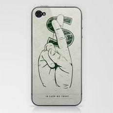 In Cash We Trust. iPhone & iPod Skin